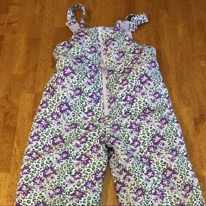 Girls London Fog purple and grey snow pants